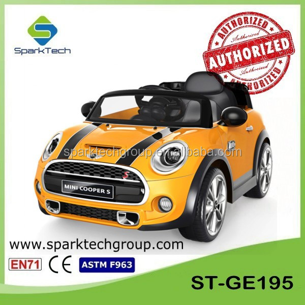 Licensed MINI Cooper Children Ride On Car JE195, Open Door Toy Car, Plastic Ride On Toy Car