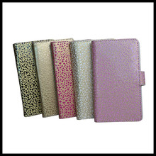 Mobile phone leather with gravel printing cover case for iphone6