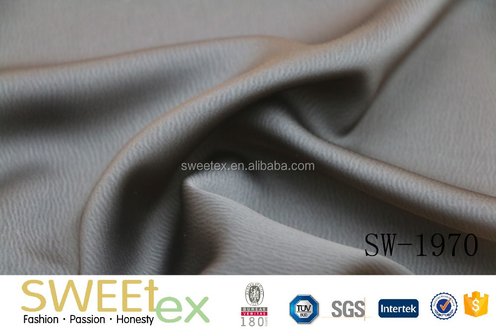 QUALITY 100% POLY WEFT STRETCH CREPE SATIN FABRIC