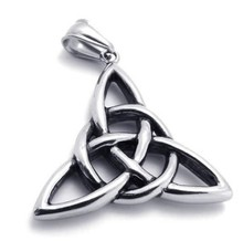 "KONOV Jewelry Vintage Stainless Steel Celtic Knot Amulet Pendant Mens Womens Necklace, 18-26"" Chain"