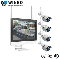 "2018 New product 4ch/8ch 1MP/1.3MP/2MP HD 15""lcd monitor nvr kit ip cctv camera"