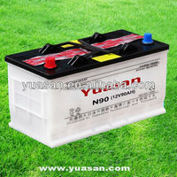 Newest Yuasa n90 JIS Dry Auto Super Chinese Batteries 12V90AH