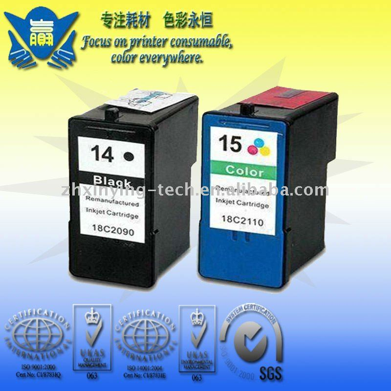 Remanufactured 14 15 ink cartridge use for Lexmark X2650 X2600 printer