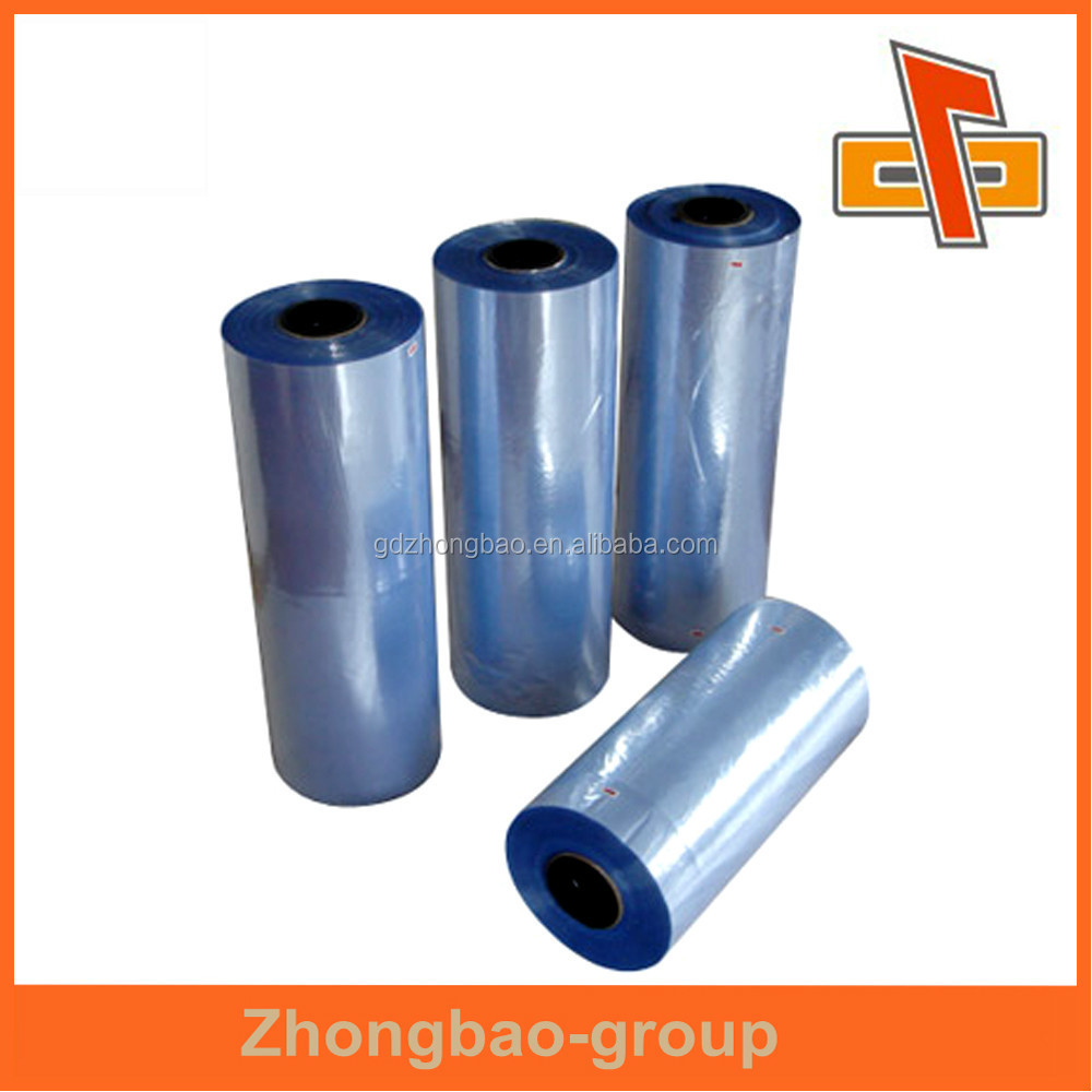 high quality Clear PVC Shrink Film with Center Folded