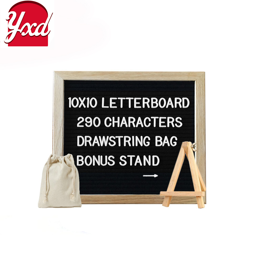 magnetic felt letter board with oak frame290 plastic letters and bag and stand buy letterboardletter boardsmagnetic letter boards product on alibaba