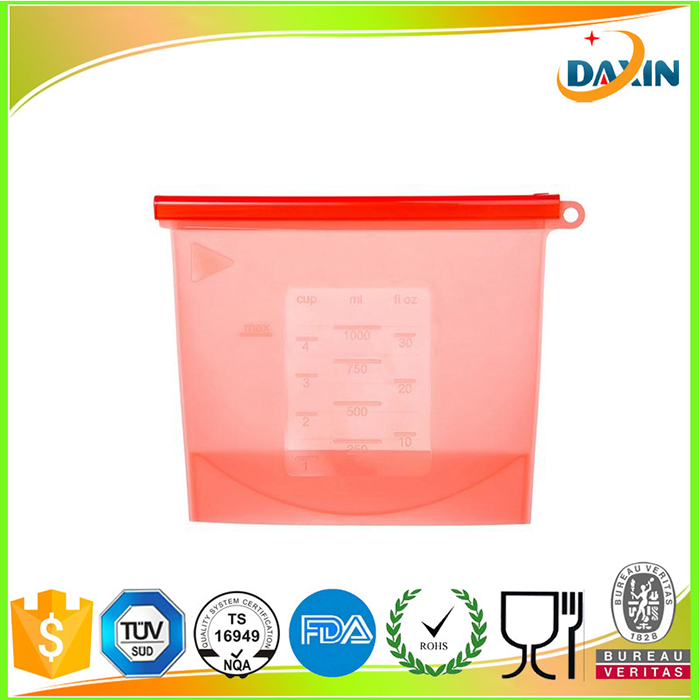 Cheap silicone food keep fresh bag food storage bag