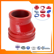 ductile iron pipe fitting grooved reducer with Top quality