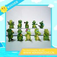 Eco-friendly crocodile cartoon figures for kids