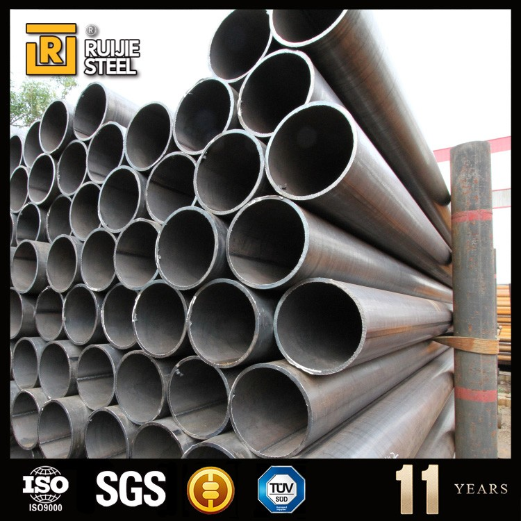 Bare surface black carbon steel pipe, en10219 standard erw pipe