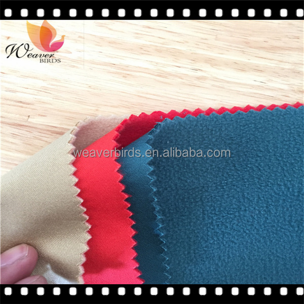 spandex cotton poplin fabric bonded polar fleece