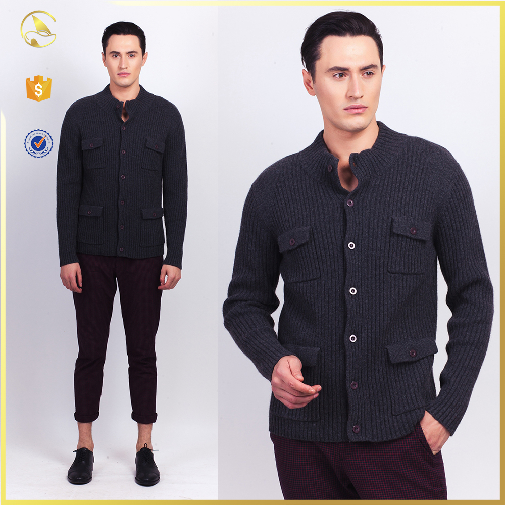 button up wool sweater design jacket sweater manufacturer for boys man
