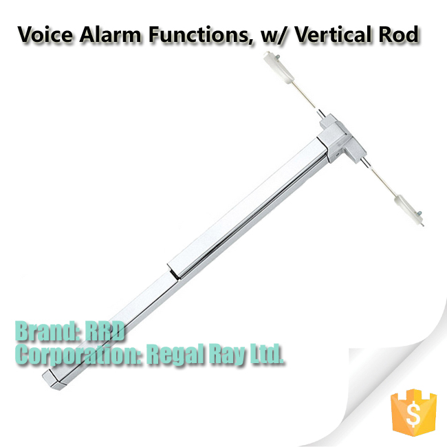 Voice Alarm Function Panic Push Bar w/ Vertical Rod