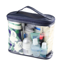 Clear PVC Travel Toiletry Accessories Zipper Bag Transparent Cosmetics Pouch with Handle
