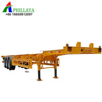 High quality truck spare parts skeleton 20ft 40ft container semi trailer in mumbai