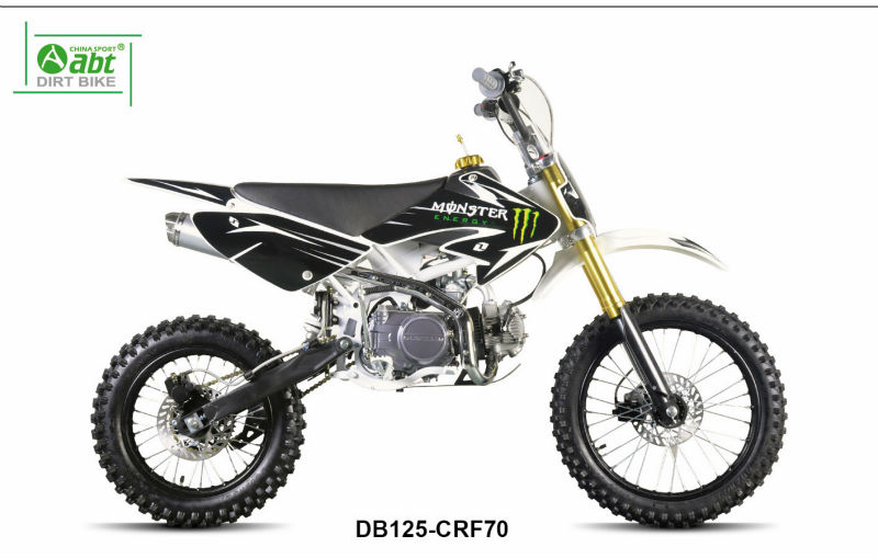 Upbeat motorcycle 4 stroke dirt bike with 125cc engine
