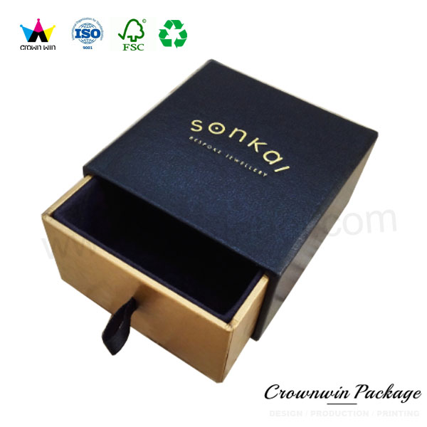 luxury cardboard sliding drawer gift box with custom logo