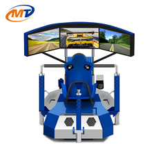 Virtual Reality Car Racing Game Machine With VR Helmet perfect visual experience