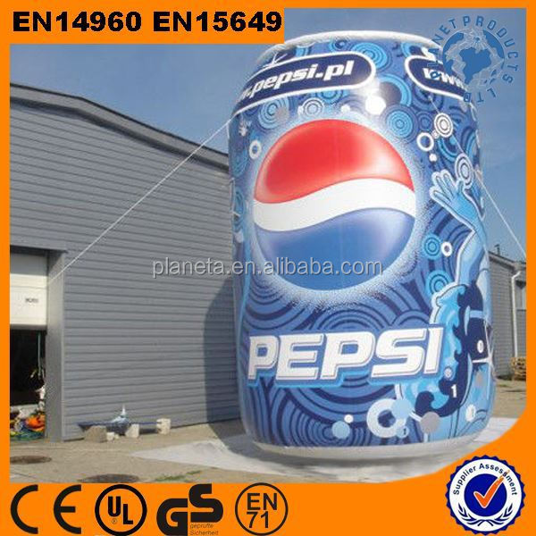 Giant digital printed inflatable Pepsi can for outdoor promotion