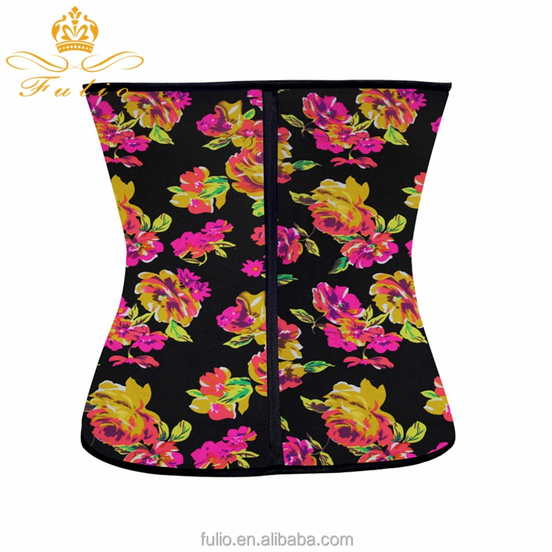 Women Latex Corset Waist Control Corset and Bustier Steel Bone Underbust Waist Trainer Corset Slimming Shaper Corselet