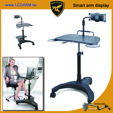 Laptop Tablet PC Computer Printer Workstation Cart Stand with Adjustable Height platform