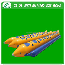 10 seats inflatable banana flying boat for sale,water game boat