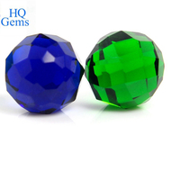 hot selling good clarity charming ball cut fashion glass bead gems for decorative