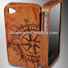 FL2180 2013 guangzhou hot selling carving rudder bamboo wooden case for iphone 4 4S/4G