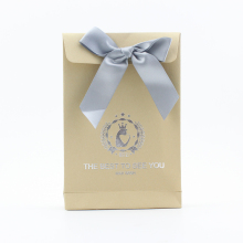 BSCI, FSC Wedding paper bag with bow tie ribbon