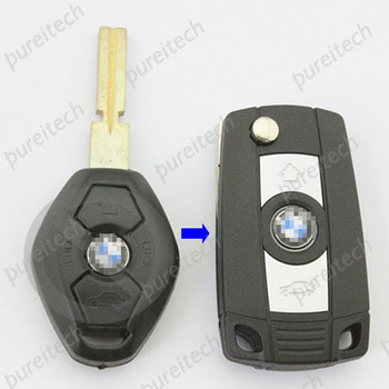 car flip modified remote key case for bm car 2 button HU58 blade
