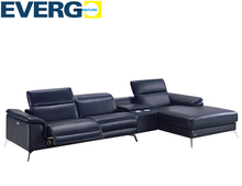 Modern electric recliner sofa italy recliner sofas with L shaped 2015