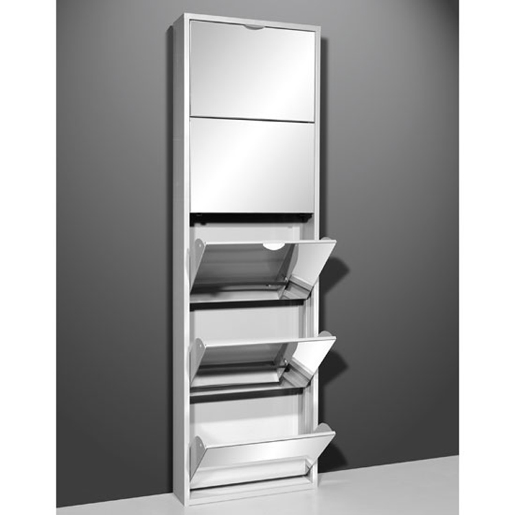 Modern 5 Doors Shoe Cabinet Family Used Shoe Cabinet Wall Mounted Mirrored  Shoe Rack Part 95