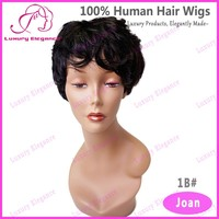 Free Shipping Best Short Full 100% Human Wigs Hair Natural Curly Many Colors
