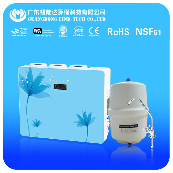 Wall hanging 5 stage reverse osmosis system water filter with LED display domestic price