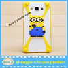 Promotional cute 3d minions cell phone cover universal animal shape phone case