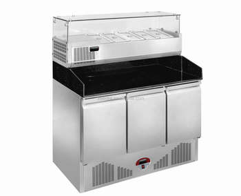 Table Top Salad Bar,kitchen Worktable/salad Preparation Tablerefrigerated  Display Case