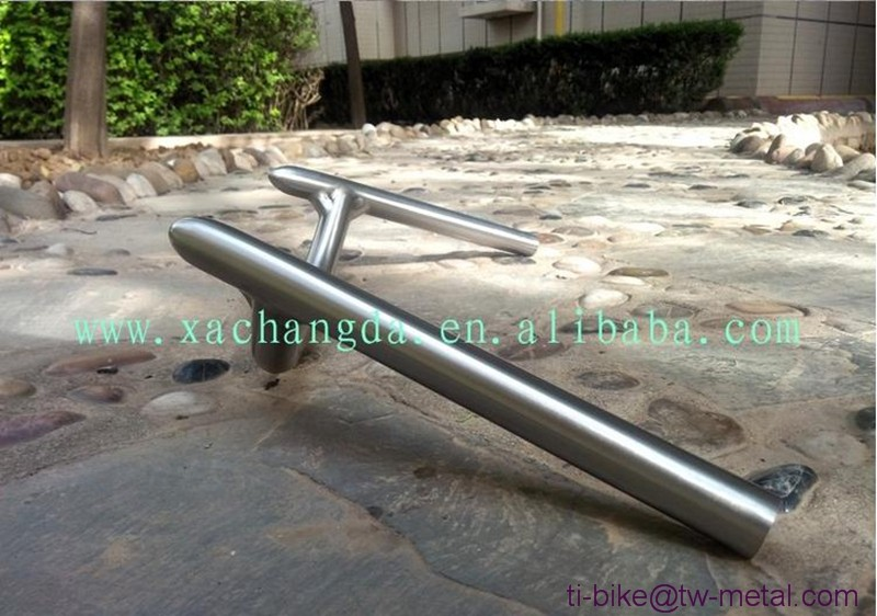 High light titanium Time Trial handle bar Ti TT bicycle handle bar customized titanium bike handle bar for TT e-bicycles