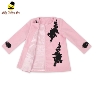 Autumn New Design Modern Loose Straight Little Girls Long Coats Boutique Baby Clothes Kids Winter Coat