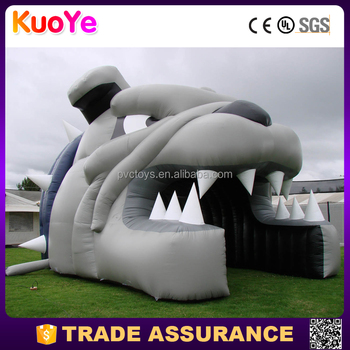inflatable head sports entry tunnel with custom artwork lettering