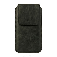 2016 hot sale new products phone pouch genuine leather pouch for smartphone
