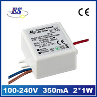 2.4W 350mA 8V ac to dc Constant Current Power Converter