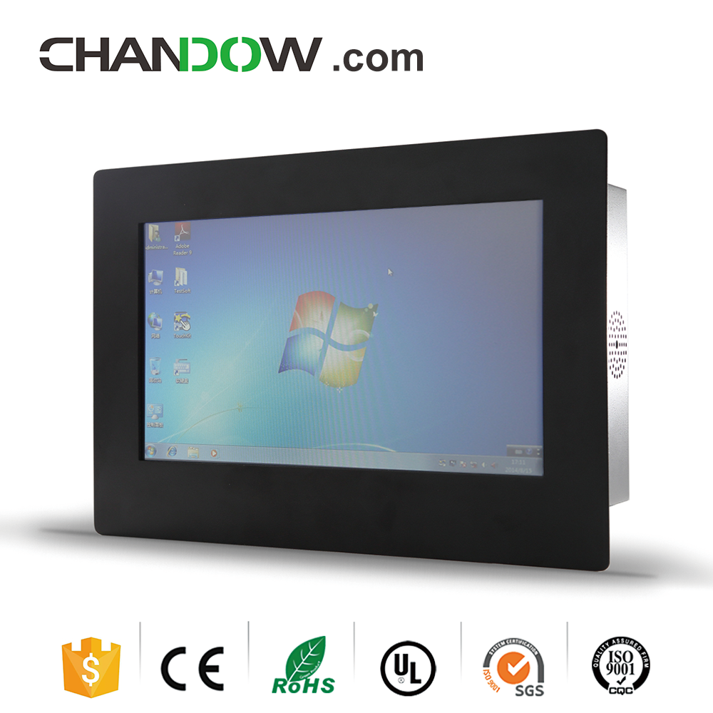 "Chandow WTI610A 10.1"" X86 Fanless Industrial PC For Process Control"