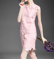 New arrival fashion dress sleeveless lace dress fashionable dress for fat women