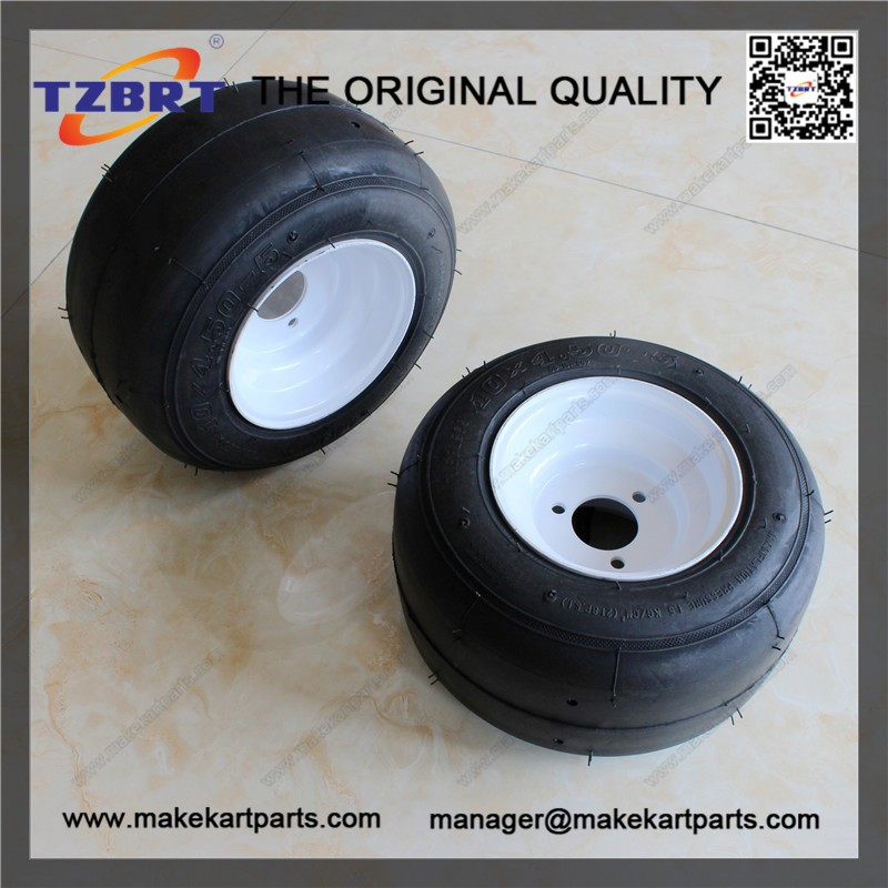 10x4.5-5 tire and iron rim for racing go kart