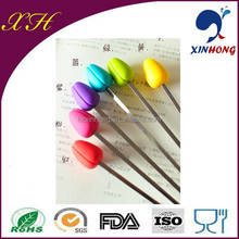 Alibaba China Hot Sell Rose Bud Shape Silicone Cocktail Stirrer For Drinks