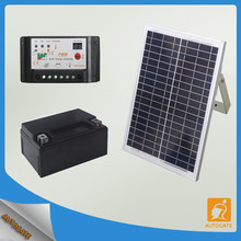 Home solar system with automatic gate opener