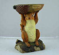 resin carved squirrel