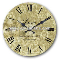 2013 hot sale shabby chic wall clock design