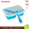 Everich 2016 FDA & LFGB standard silicone lunch box with fox and spoon
