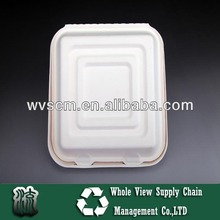 Eco-friendly 10 inch takeaway food container with lid