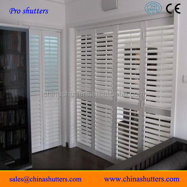 Decorative Plantation Style Interior Top Wood Shutter